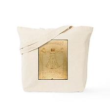 Leonardo Da Vinci Vitruvian Man Tote Bag