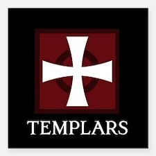 "Templar Logo Square Car Magnet 3"" x 3"""
