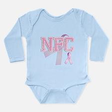 NFC initials, Pink Ribbon, Long Sleeve Infant Body