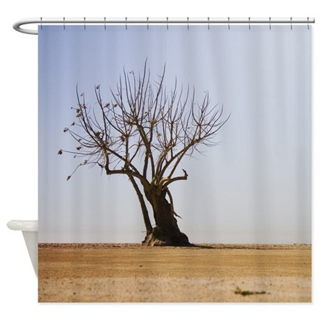 shower curtain zen tree by caitlin