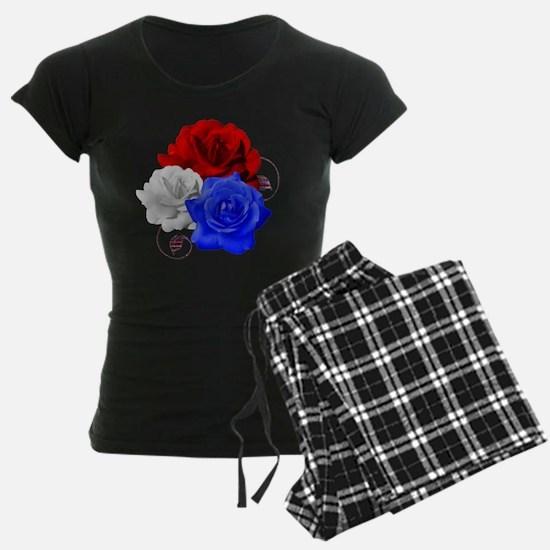 Patriotic Flowers Pajamas