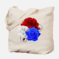 Patriotic Flowers Tote Bag