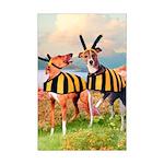 Italian Greyhound Dog Bees Mini Poster