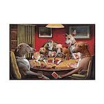 Poker DogsItalian Greyhound s Mini Poster Print