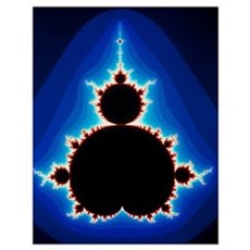 Fractal geometry showing Mandelbrot Set Poster