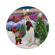 Santa's Take Off - Springer (Liv) Ornament (Round)