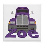 Trucker Zoe Tile Coaster