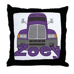Trucker Zoey Throw Pillow