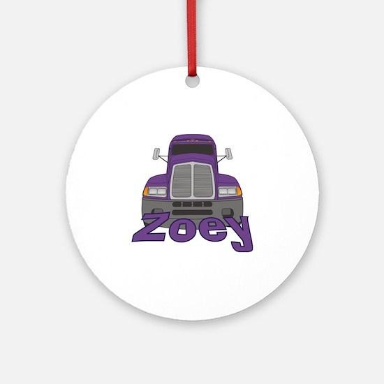 Trucker Zoey Ornament (Round)