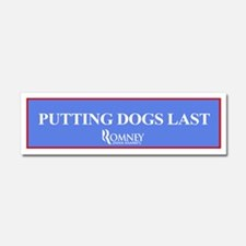 "Romney ""Putting Dogs Last"" Bumper Magnet"