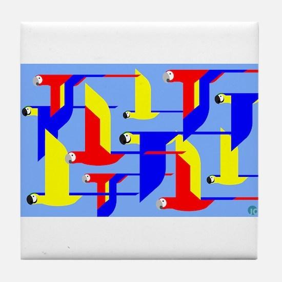 Macaws Tile Coaster