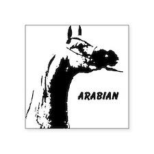 "AFTM Arabian Head Neck2 Square Sticker 3"" x 3"""