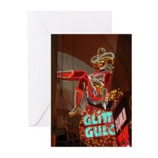 Las Vegas Downtown Glitter Gu Greeting Cards (Pk o