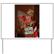 Las Vegas Downtown Glitter Gu Yard Sign