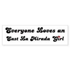 East La Mirada girl Bumper Bumper Sticker