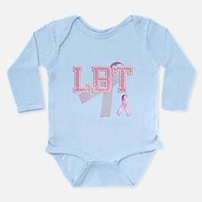 LBT initials, Pink Ribbon, Long Sleeve Infant Body