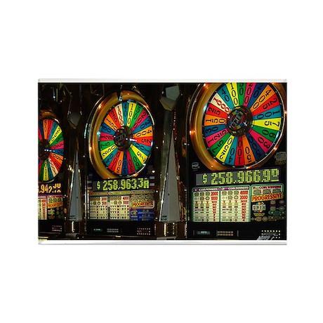 Las Vegas Slots Rectangle Magnet