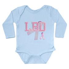 LBD initials, Pink Ribbon, Long Sleeve Infant Body