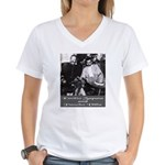 Villa and Zapata Women's V-Neck T-Shirt