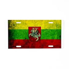 Lithuania Flag Aluminum License Plate