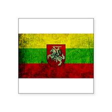 """Lithuania Flag Square Sticker 3"""" x 3"""""""