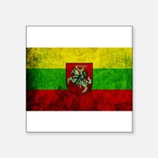 "Lithuania Flag Square Sticker 3"" x 3"""