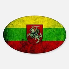 Lithuania Flag Sticker (Oval)