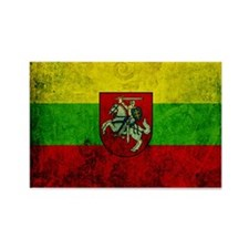 Lithuania Flag Rectangle Magnet