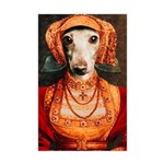 Elizabethan Italian Greyhound Mini Poster Print