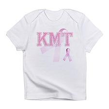KMT initials, Pink Ribbon, Infant T-Shirt