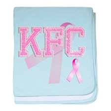 KFC initials, Pink Ribbon, baby blanket