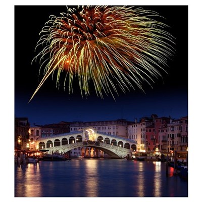 Fireworks display, Venice Poster