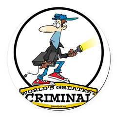 WORLDS GREATEST CRIMINAL MEN CARTOON.png Round Car