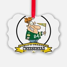 WORLDS GREATEST CHEESE HEAD CARTOON.png Ornament