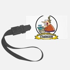 WORLDS GREATEST CASHIER CARTOON.png Luggage Tag