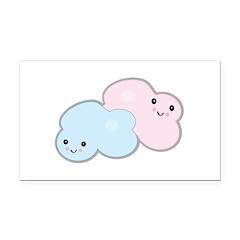 pastel clouds.png Rectangle Car Magnet