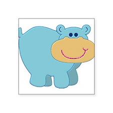 "hippo.jpg Square Sticker 3"" x 3"""