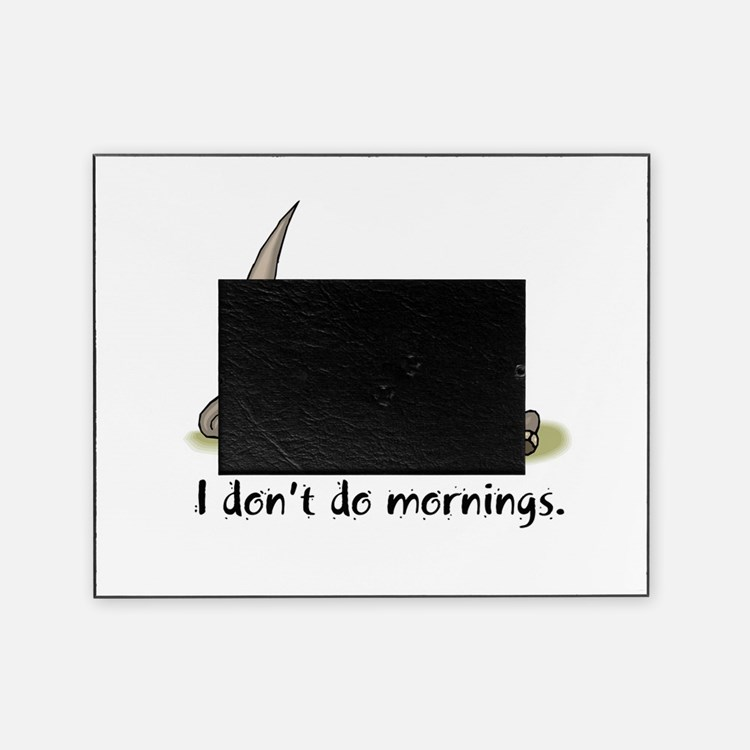 mornings rhino.psd Picture Frame
