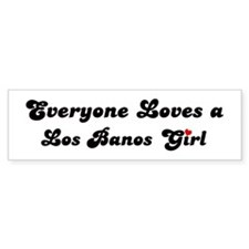 Los Banos girl Bumper Bumper Sticker