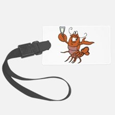 toasting wine lobster.png Luggage Tag