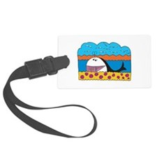 happy colorful whale design.png Luggage Tag