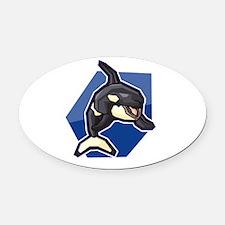 orca4.psd Oval Car Magnet