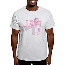 JAM initials, Pink Ribbon, T-Shirt