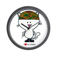 """ i love my soldier"" Wall Clock"