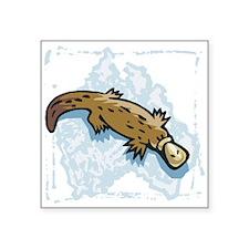 "cute australian platypus.png Square Sticker 3"" x 3"