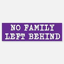 No Family Left Behind PurpleBumper Bumper Sticker