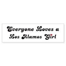 Los Alamos girl Bumper Bumper Bumper Sticker