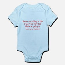 love you forever Infant Bodysuit