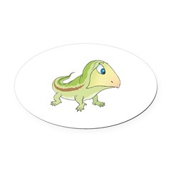 baby lizard copy.jpg Oval Car Magnet