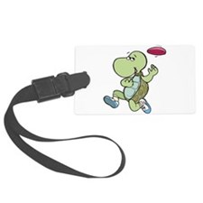 turtle playing frisbee.png Luggage Tag